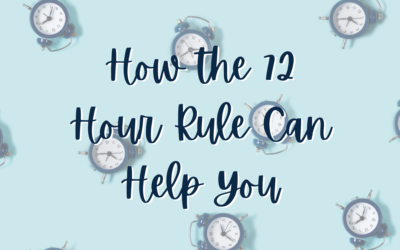 How the 72 Hour Rule Can Help You