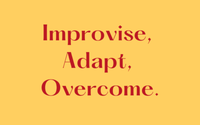 Improvise, Adapt, Overcome.